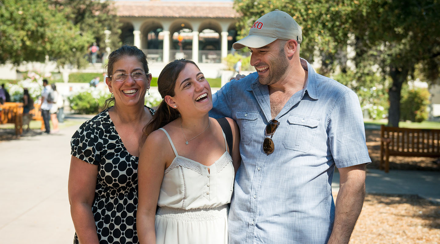 An Oxy student and her parents