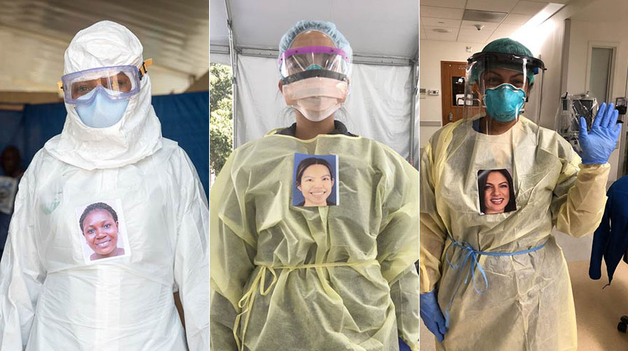 Healthcare workers in PPE gear