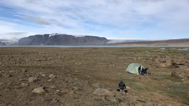 An Icelandic l和scape, the site 的 student-faculty research