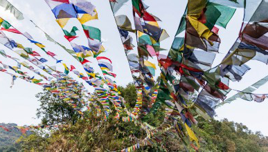 Prayer flags in Sikkim
